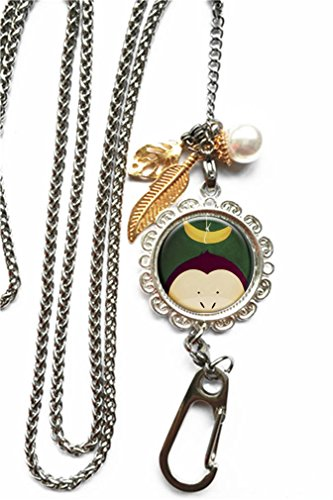 RhyNSky Animal Monkey Chain Lanyard Necklace Bracelet Keychain Eyeglass Holder for ID Card Name Tag Badge Holder with Clasp, C1447 -