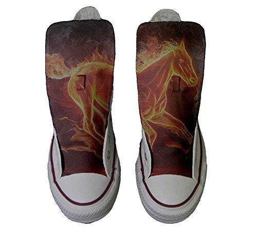 Converse Customized Chaussures Personnalisé et imprimés UNISEX (produit artisanal) cheval fougueux - size EU37