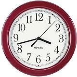 "Westclox 46983 Round Simplicity Wall Clock, Burgundy Case, 8.5"""