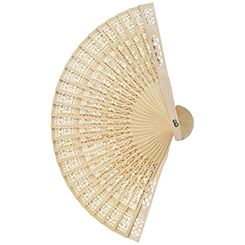 Chinese wedding favors amazon chinese sandalwood scented wooden openwork personal hand held folding fans for wedding decoration birthdays home gifts by super z outlet 48 pack junglespirit Images