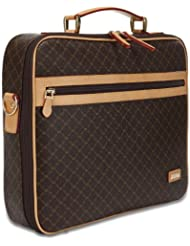Rioni Signature Jetsetter's Laptop Briefcase - Signature Brown