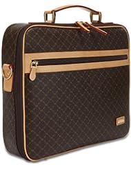Rioni Signature Jetsetters Laptop Briefcase - Signature Brown