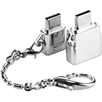 Leoie Metal USB Type C Adapter Micro USB Adapter Converts with Keychain Durable