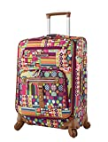 Lily Bloom Luggage Carry On Expandable Design Pattern Suitcase For Woman With Spinner Wheels (20in, Origami)