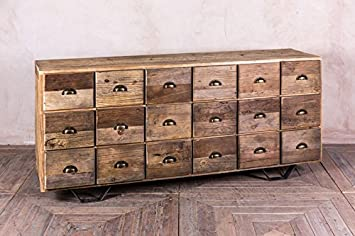 Sideboard Industrial Look ~ Large industrial style chest of drawers in reclaimed pine