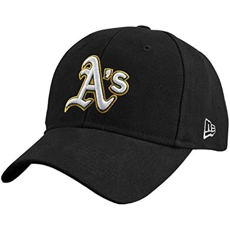 official photos 1de45 4c67b Image Unavailable. Image not available for. Color  MLB New Era Oakland  Athletics Black Pinch Hitter with White Logo Adjustable Hat
