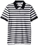Original Penguin Men's Short Sleeve Pointelle Stripe Polo, Dark Sapphire, Medium