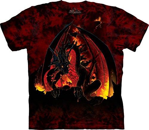 The Mountain Men's Fireball T-Shirt, Red/Black, X-Large