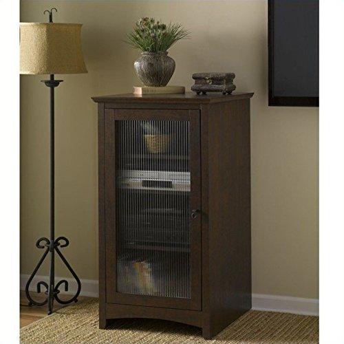 Bookcase Traditional Cabinet Cherry (Bush Furniture Buena Vista Media Cabinet in Madison Cherry)