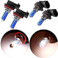 CCIYU 2x 9005 Headlight Xenon HID White 5000K HB3 Halogen Light Bulbs+ 2x H11 5900K White Xenon HID Halogen Headlight Bulbs