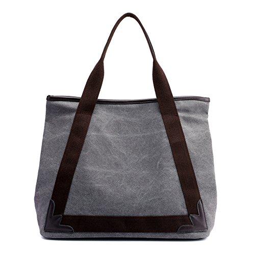 AFCITY Mujeres Bolsos Mano Satchel Cartera Lona de la Vendimia Ladies Shopper Hobo Bag Lona de Las Mujeres Retro Bolsos de asa Superior para Viajes ...
