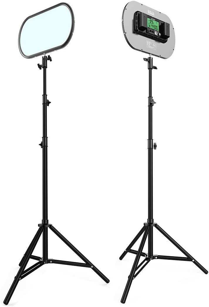 PE-920II All Set Portrait Light with Battery//Charger//AC Adapter Professional LED Bi-Color Slim Studio Lighting,Ultra Thin Studio Edge Flapjack Light