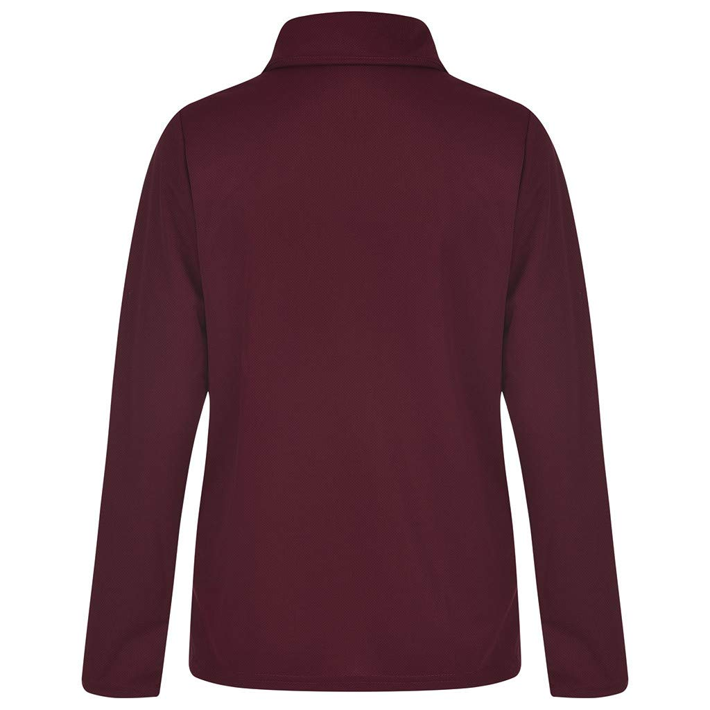 FarJing Fashion Autumn Womens Fashion Irregular Long Sleeve Blouse Tunic Tops