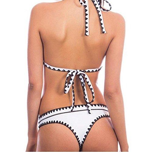 Hook cuerda bikini caliente resorte traje de baño femenino traje de baño 2