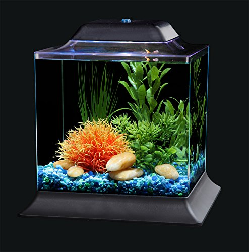 Koller Products AquaScene 1.5-Gallon Fish Tank with LED Lighting