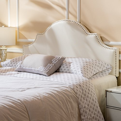 Buy Nera Ivory Fabric Queen/Full Headboard