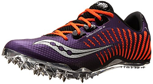 Saucony Women's Showdown 2 Track Shoe,Purple/Vizi pro Orange,5.5 M US
