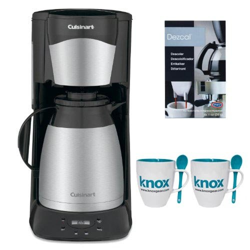 Cuisinart DTC975BKN 12 Cup Programable Thermal Coffeemaker in Black + Knox 16oz. Mug With Spoon (2 Pack) + Accessory Kit