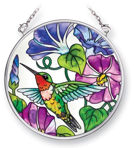 - Amia 41504 Morning Flory Hummingbird 3-1/2-Inch Circle Sun Catcher, Small
