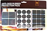 Anti-Skid Rubber Protection Pads for Furniture Feet (Pack of 56)