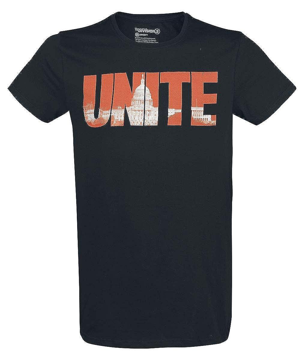 Tom Clancys The Division Unite T-Shirt Manches Courtes Noir XL