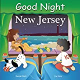 Good Night New Jersey highlights the Atlantic Ocean and sandy beaches, fishing boats, rafting the Delaware Water Gap, blueberry farms in the Pine Barrens, Lucy the Elephant, Asbury Park, Adventure Aquarium, Lakota Wolf Preserve, lighthouses, and more...