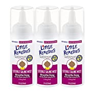 Little Remedies Sterile Saline Mist | 2 oz | Pack of 3 | for Noses to Breathe Easily | Gently Wash Away Mucus | Newborn Safe