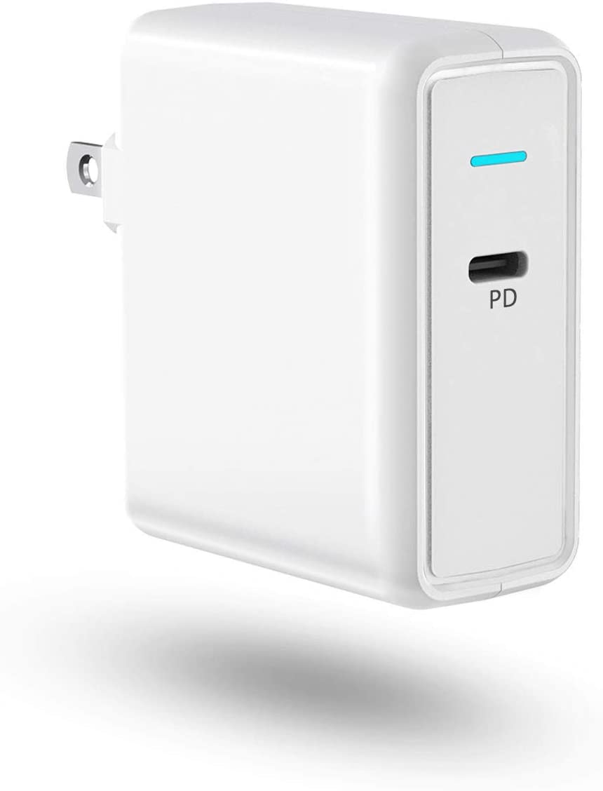 Aiibe USB C Charger Power Adapter 61W Type C Wall Charger Power Delivery 3.0 Fast Charging Block PD Charger for MacBook Pro/Air, Dell XPS, HP Spectre, iPad Pro Nintendo iPhone SE 11 Pro Max and More
