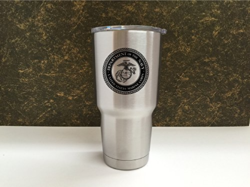 YETI-Rambler-Laser-Engraved-with-US-Marine-Corps-seal-Choose-from-YETI-Water-Bottle-Mug-or-Colster