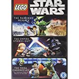 3 Lego Movie Collection DVD Star Wars The Padawan Menace, The Empire Strikes Out and The Yoda Chronicles
