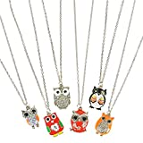 16' Owl Necklace Assortment (6 Per Order)