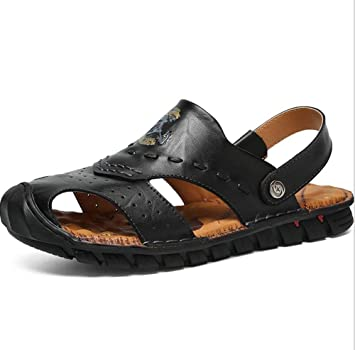 bdc07c16bb315 Amazon.com : GHFJDO Men Hiking Trekking Sandals, Outdoor Leather ...