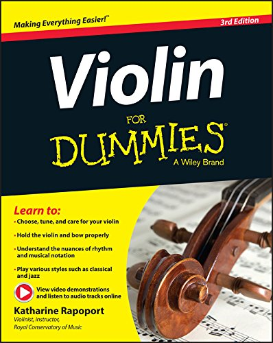 - Violin For Dummies, Book + Online Video & Audio Instruction