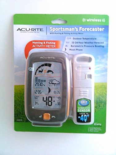 UPC 072397002523, Acurite Sportsman's Hunting and Fishing Activity Meter and Weather Forecaster, Orange