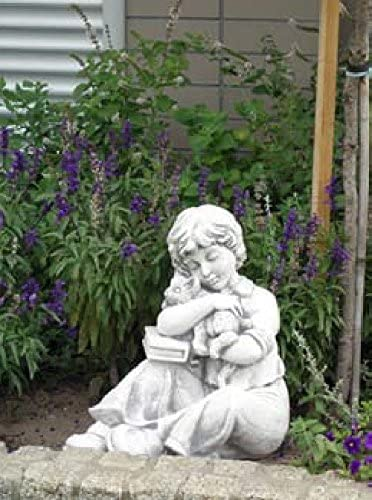 Niño con Perro (s101137) Niños Jardín figuras Estatua de piedra 44 cm: Amazon.es: Jardín