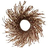 CWI Gifts Pip Berry and Twig Wreath, 16-Inch, Burgundy/Old Gold