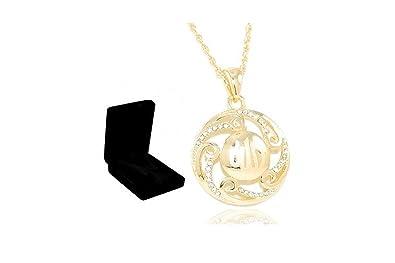 Coffret bijoux oriental Collier   pendentif Allah petits strass - Plaqué Or 0f6d3deb8a16