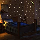 VOGEK Wall Stickers Glow in The Dark Stars, Glowing Adhesive Stars, Dots, Moon for Ceiling Wall Stickers Perfect for Kids Bedroom Living Room