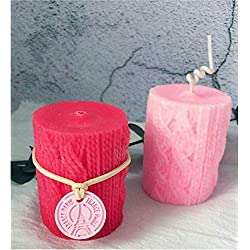 Great Mold 3D Knitting Wool Cylinder Silicone Cand