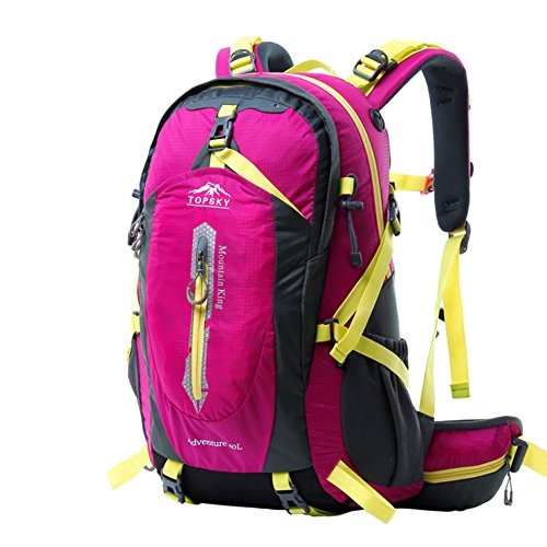 Bergsteigen Tasche/Outdoor-Wanderrucksack/Atmungsaktive wasserdichte Reiten Pakete/Reisen Wanderrucksack-rosa 1 50L
