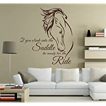 DiTooms Horse Wall Decal Horse Deca Horse Art Horse Wall Decals Horse Decals Equine Art Wall Sticker For Room Decor