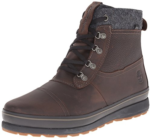 Timberland Men's Schazzberg Mid WP Insulated Winter Boot, Dark Brown, 8 M (Dark Brown Waterproof Insulated Boot)