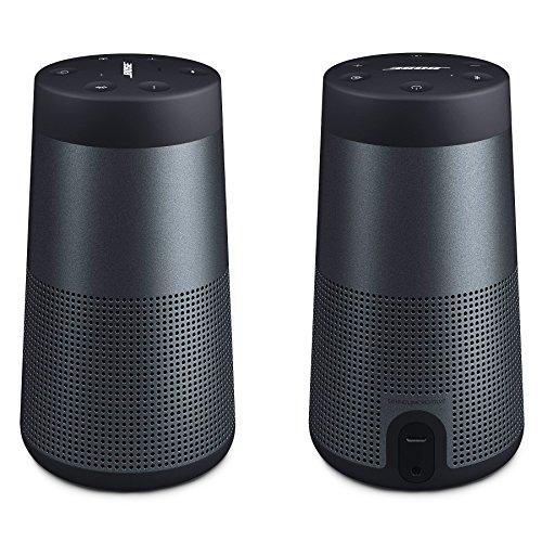 Bose SoundLink Revolve Bluetooth Speaker, Triple Black - Pair for a True Stereo Sound - Bundle