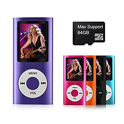 Mymahdi M230 Digital Compact Portable MP3 / MP4 Player,Supporting Photo Viewer,FM Radio and Video,E-Book Reader,Voice Recorder(purple)