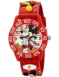 Kids' W001516 Disney Mickey Mouse 3D Plastic Watch with Red Strap