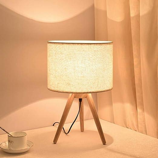 JFHGNJ lámpara de mesa Trípode de madera Lámpara de mesa Nuevo ...