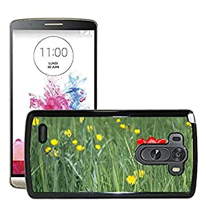 Hot Style Cell Phone PC Hard Case Cover // M00308176 Tulip Flower Spring Red Plant // LG G3 VS985