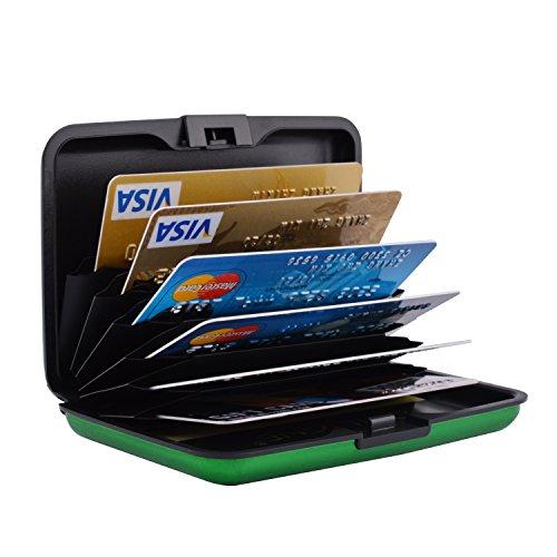 MaxGear RFID Blocking Credit Card Protector Metal Credit Card Wallet Metal Credit Card Holder for Women (Rfid Blocking)