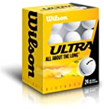 Wilson WGWR56400 Ultra Ultimate Distance - Lote de pelotas de golf (24 unidades), color blanco
