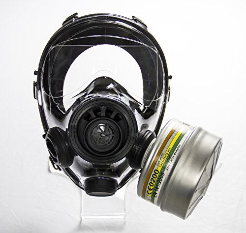 Mestel Safety - Full-face Gas Mask, Anti-Gas Respirator Mask - Resistant to Chemical Agents and Aggressive Toxic Substances - Suitable for Pesticide and Chemical Protection - SGE 400/3 BB S/M by Mestel Safety (Image #4)